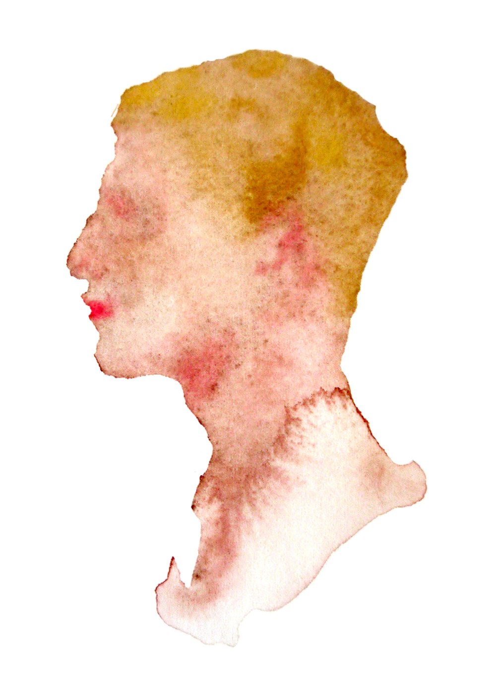 "Eric, 2012 Watercolor 3""x4"""