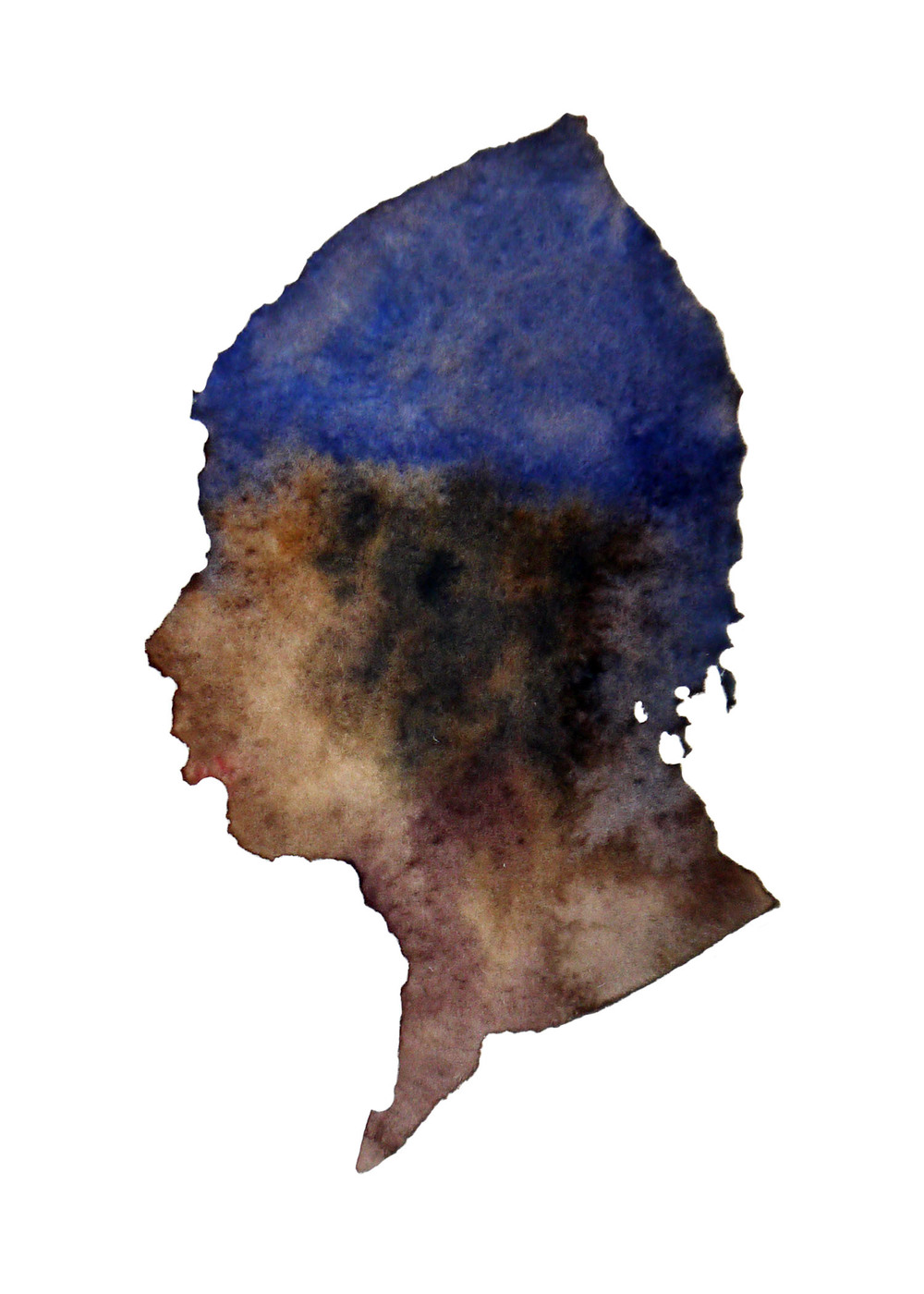 "Guy, 2012 Watercolor 3""x4"""