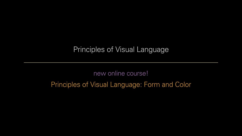 Line Color Form : Principles of visual language: course overview u2014 richard mehl