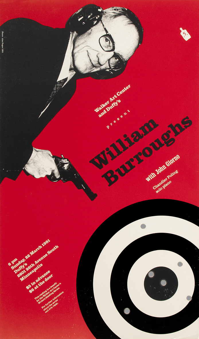 William Burroughs poster, Walker Art Center, 1981