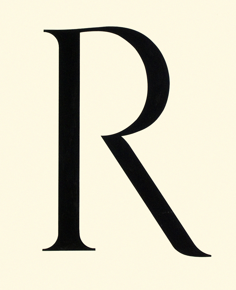 letterform design, Yale Graphic Design program, 1981