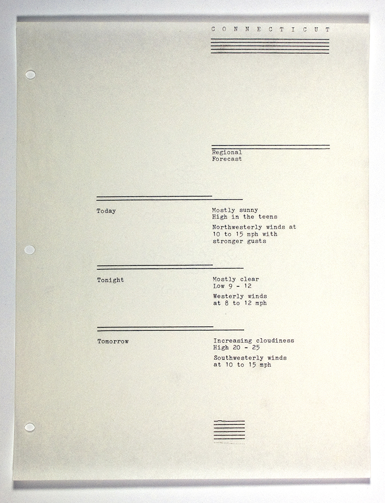 Typewriter composition, Yale graphic design program, 1982