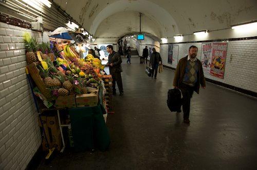 Fruit stall in Metro
