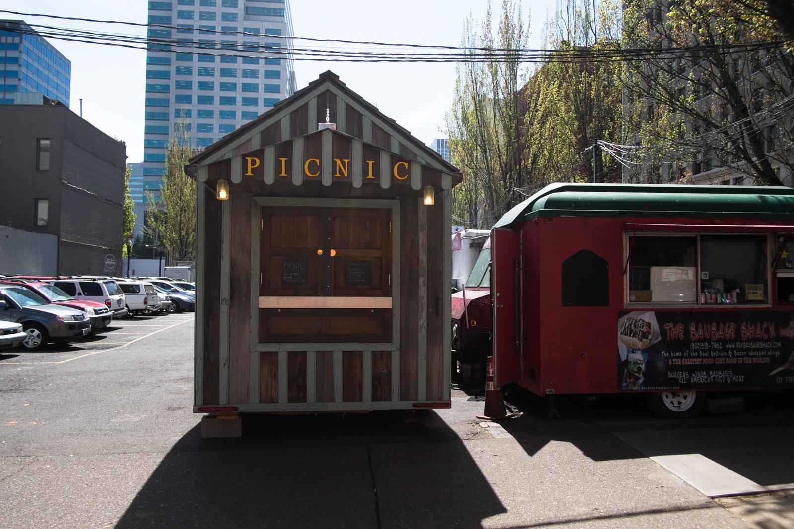 Food cart downtown