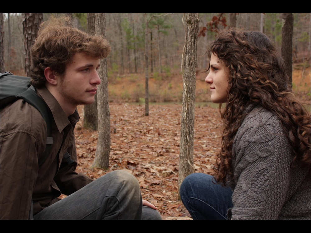 Parker Aultman and Sarah Hyde in  Exodus Road .