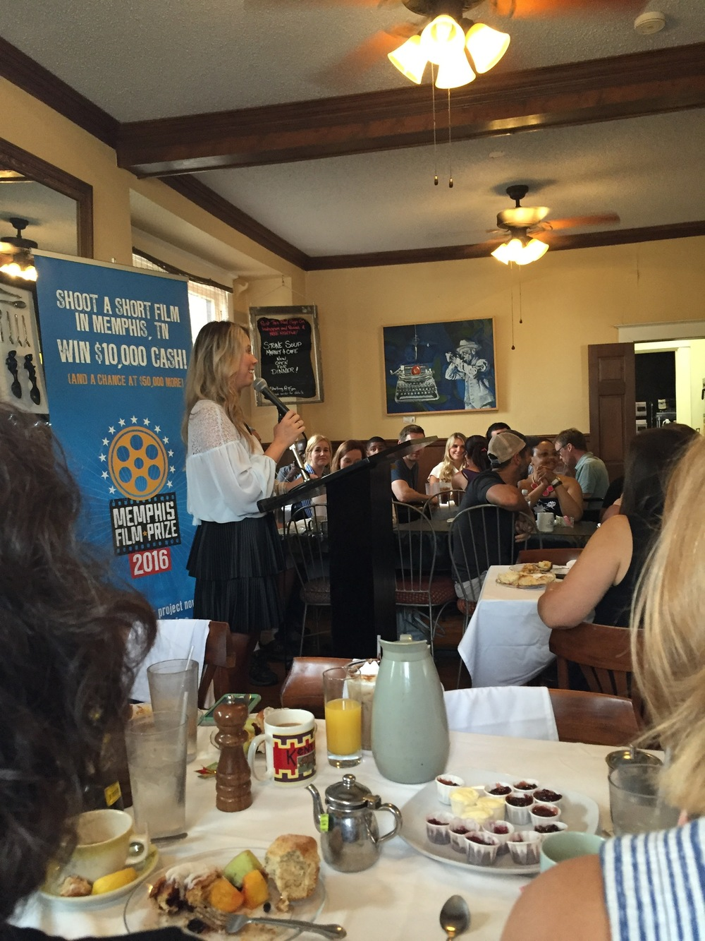 The awards brunch at Stone Soup.