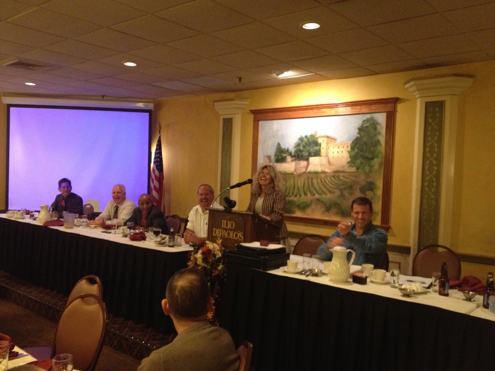 PEF President Susan Kent speaking at the Division meeting.                                                                                                                                             September 19, 2012