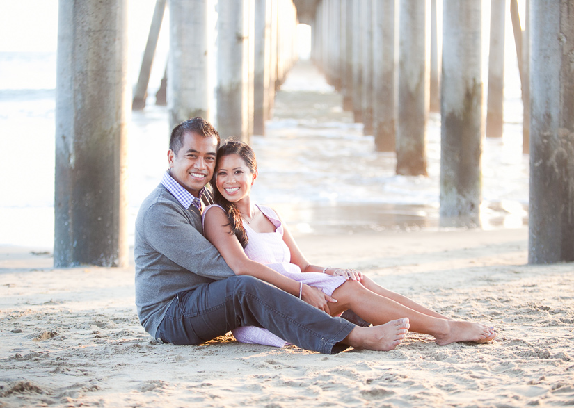 huntington beach pier engagement