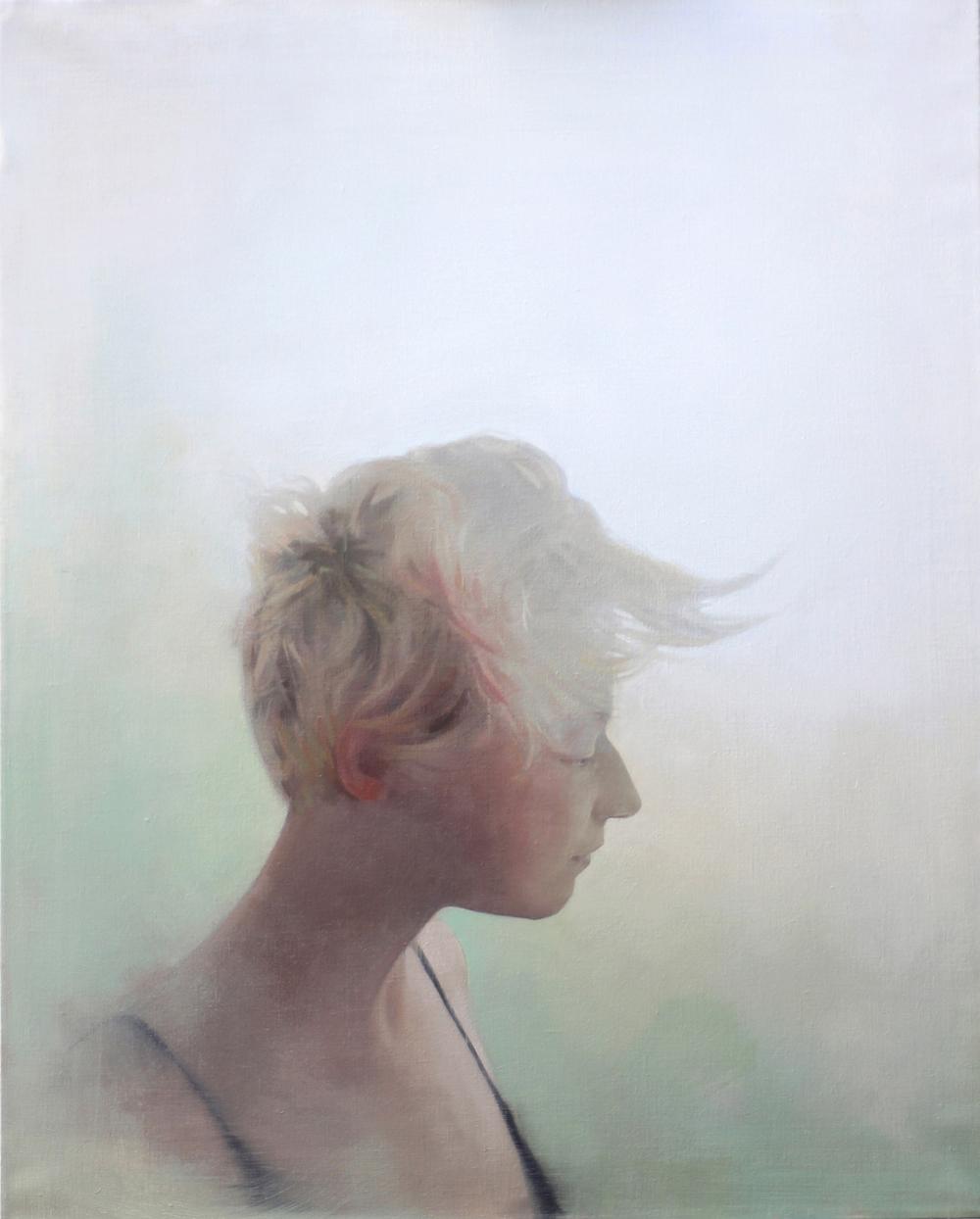 "Self-Portrait in a Dream, oil on canvas, 24""x30"", private collection"