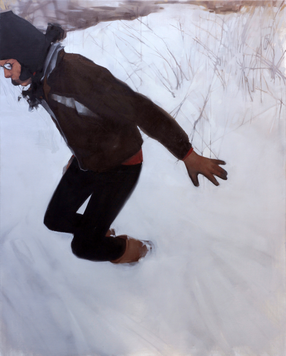 """Snow, oil on canvas,48""""x60"""""""