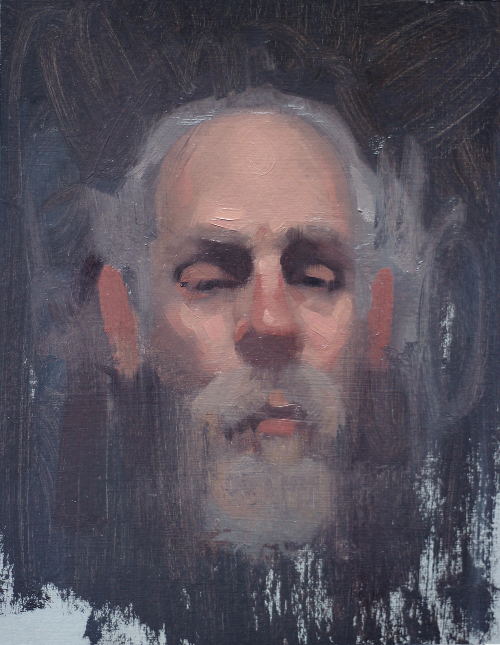 "Gregory, oil on paper, 8""x10"" private collection"