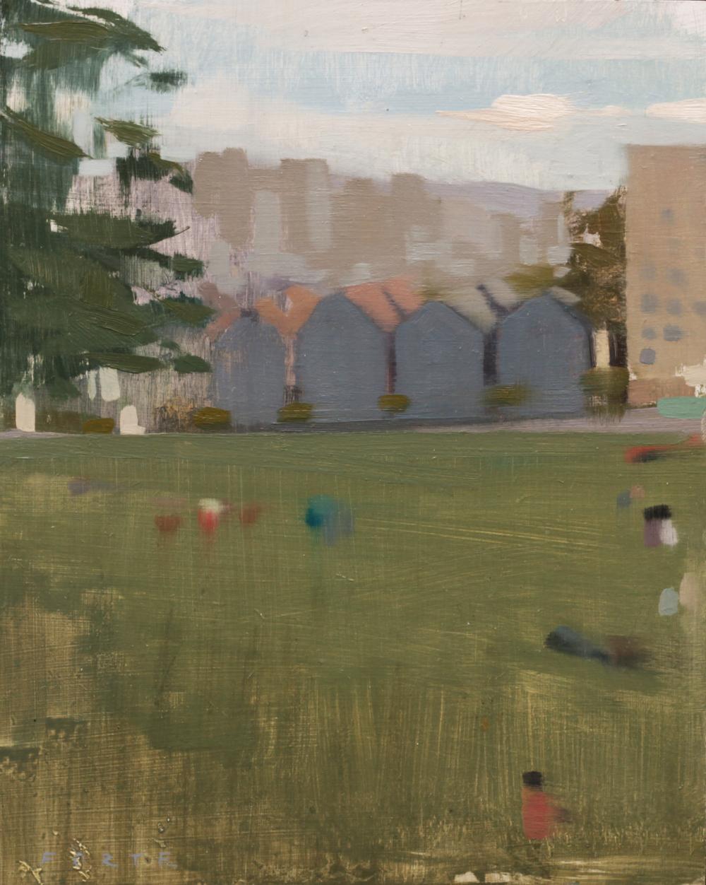"Alamo Square,oil on panel,8""x10"""