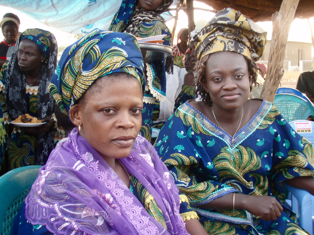 Members of a micro-finance group at the group's annual celebration.