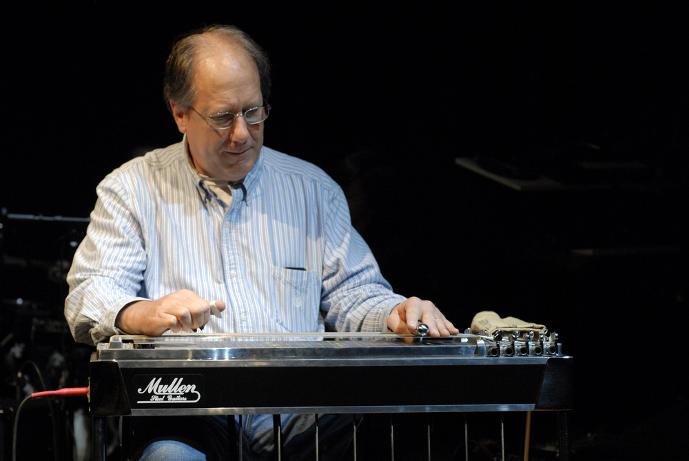 Eli Hall plays pedal steel guitar with 40 Gallon Baptist at the Slant Culture Theatre Festival