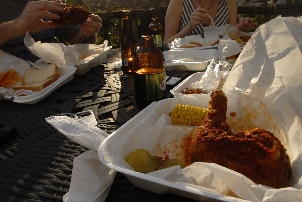Hot chicken in Nashville