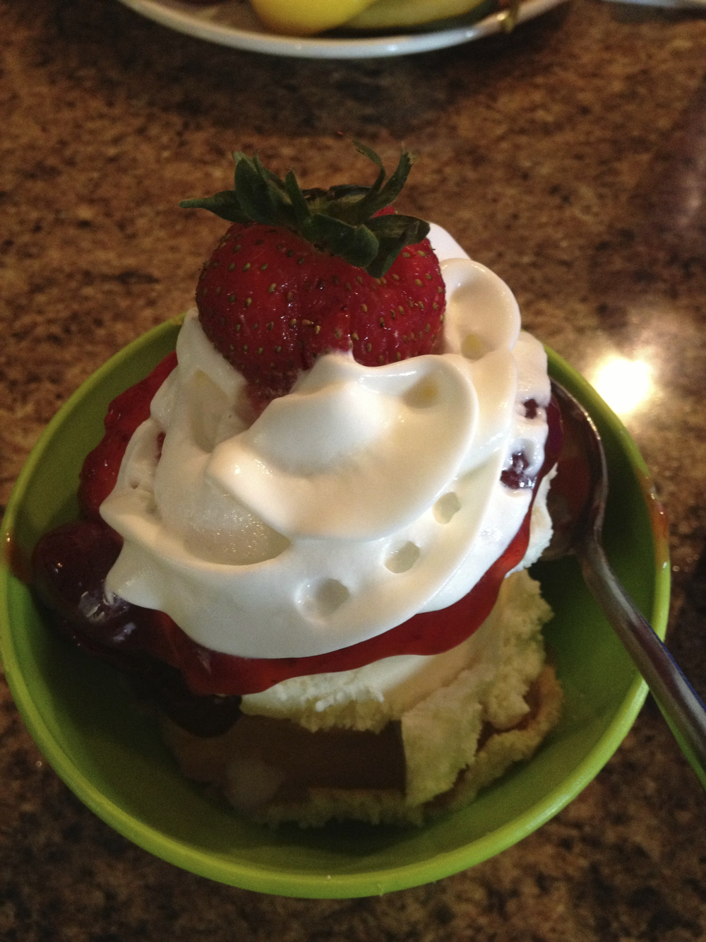 Strawberry shortcake in Charlottesville, Virginia