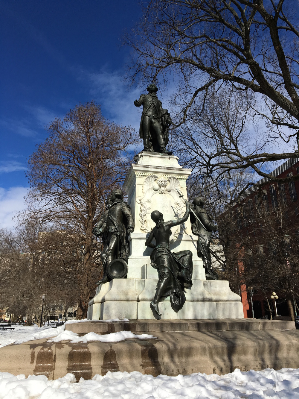 Lafayette and some friends at Lafayette Square. Photo by Gabe Bullard.