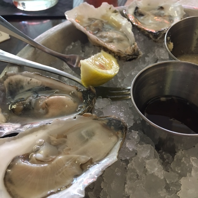 These oysters not shucked by Gardner Douglas.