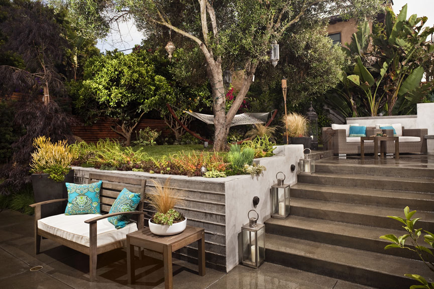 Taking an existing landscape and recreating a use-able inviting outdoor space w/ ample site furnishing to relax in the afternoon sun.