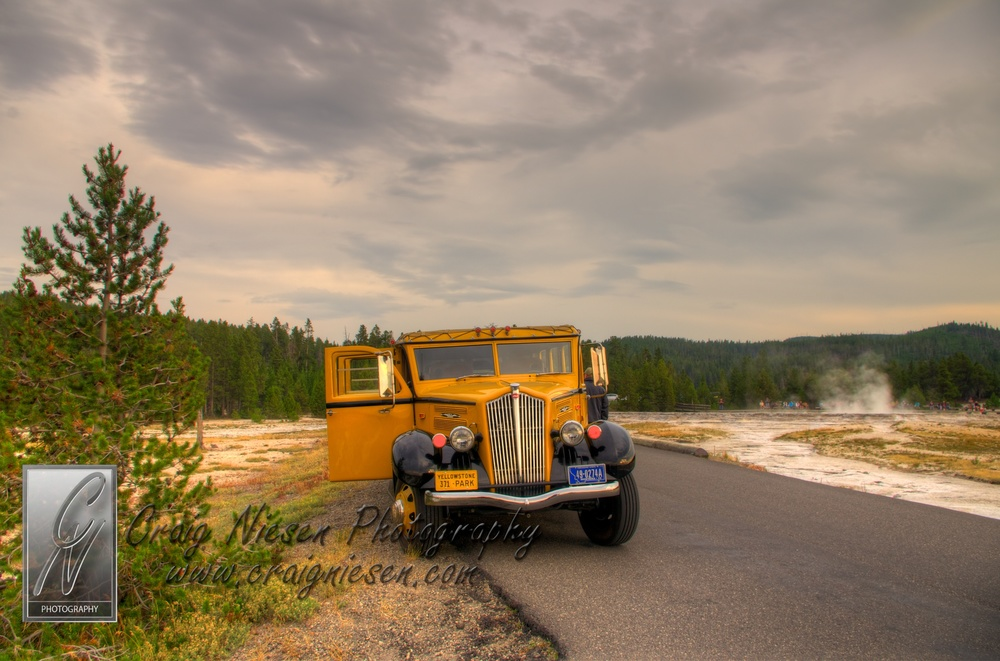 Yellow Bus, Yellowstone National Park
