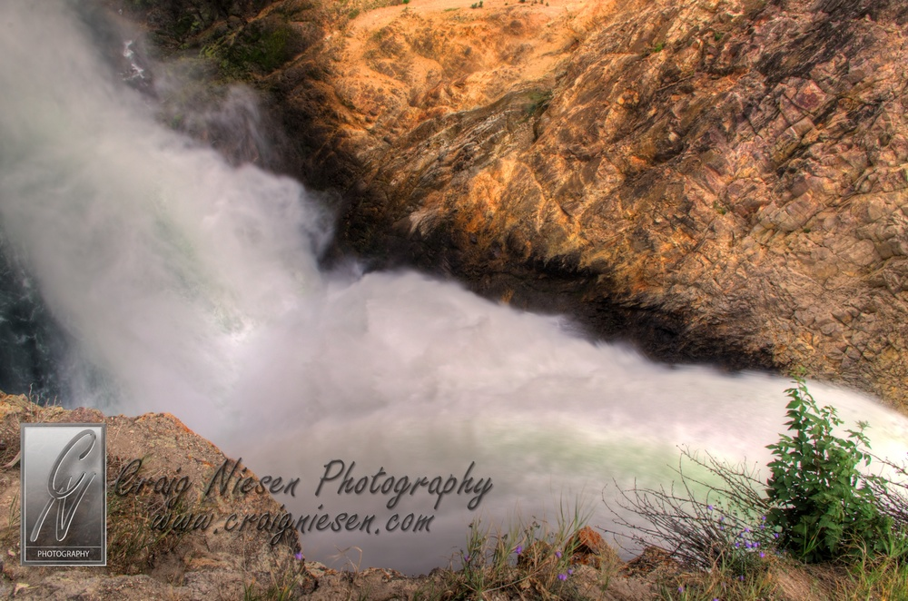 The Brink of the Lower Falls of the Yellowstone River, Yellowstone National Park