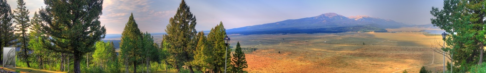 The View from Top of the World Yellowstone Cabin