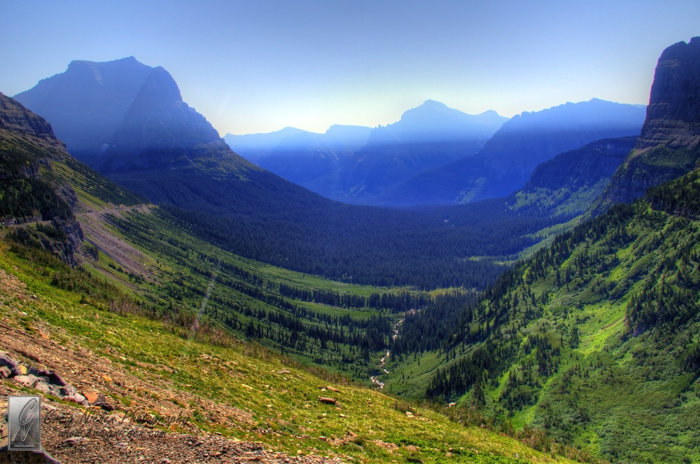 U-shaped Valley Looking East from Logan Pass, Glacier National Park