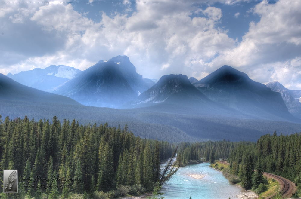 Overlooking the Bow River, Banff National Park Canada