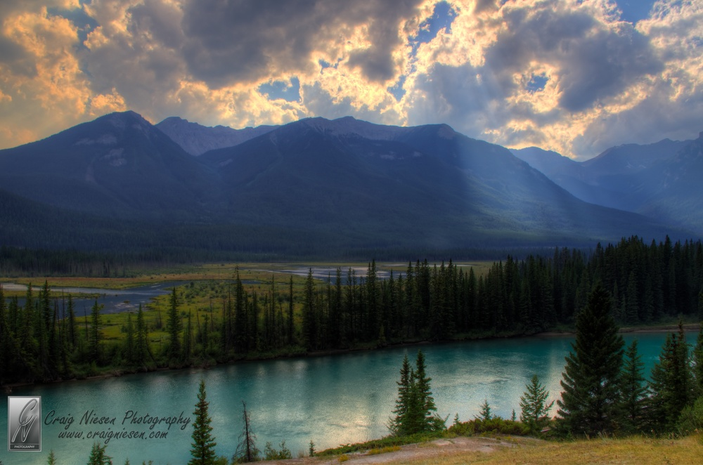 Backswamp with Mount Bourgeau in the background, Banff National Park Canada