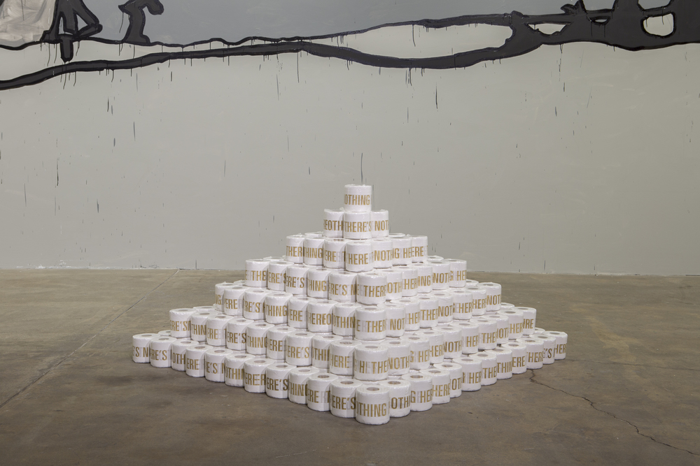 THERE'S NOTHING HERE, 2015, Toilet Paper, Installed at Carrie Secrist Gallery, Chicago, IL