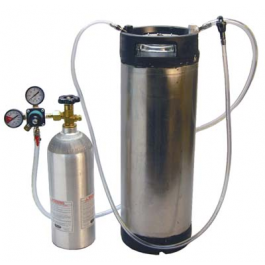 A Corny Keg, 2kg Co2 tank and regulator