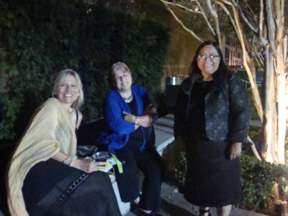 Friend of LAFLA with Kathleen Sheldon Director of Development of LAFLA and Silvia Argueta Executive Director of LAFLA