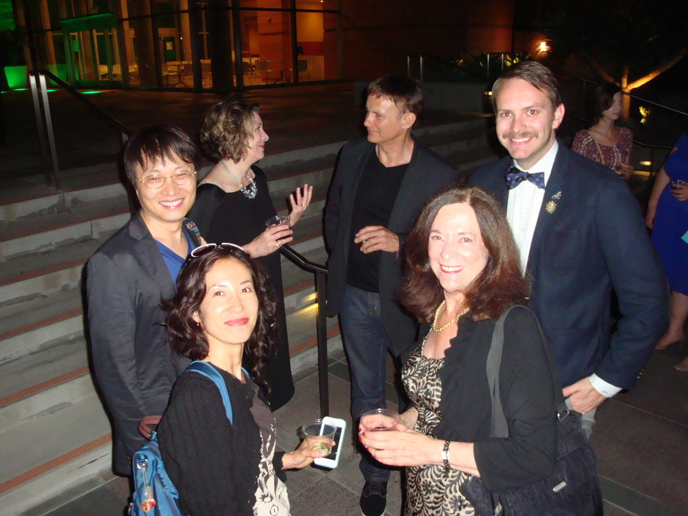 Clockwise from bottom left:     Percussionist Ayano Kataoka,     Composer Lei Liang, Susan Narucki, Andreas Mitisek     Artistic & General Long Beach Opera ,  Derek Purdy  Marketing Coordinator Long Beach Opera,  Kathleen Charla