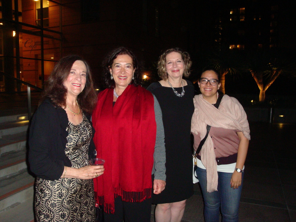 Kathleen Charla, María Elena Cabezut Acting Director of The Mexican Cultural Institute of New York, Susan Narucki and friend of Maria Elena Cabezut