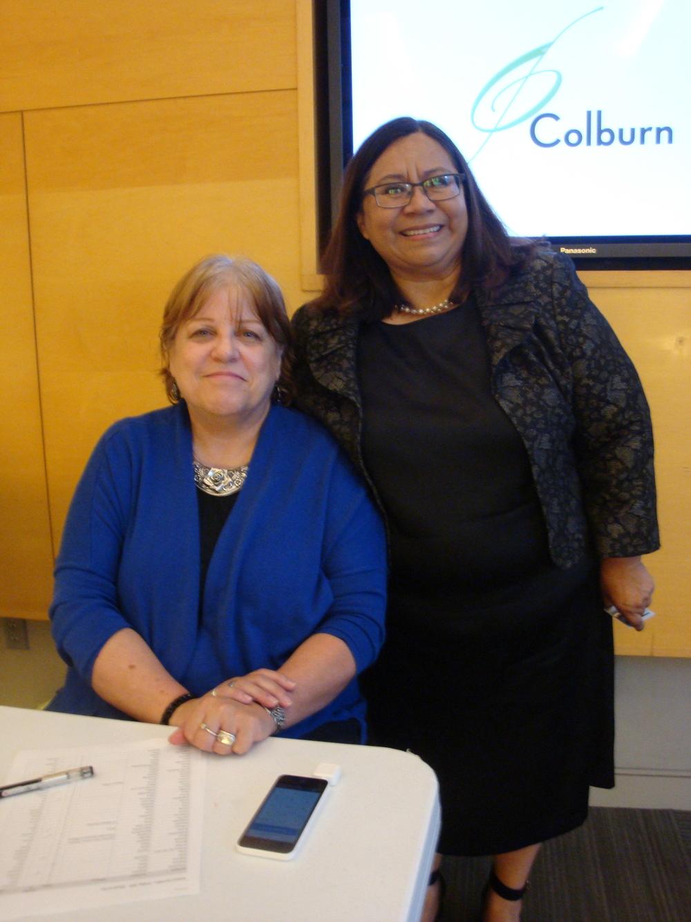 Kathleen Sheldon and Silvia Argueta of LAFLA