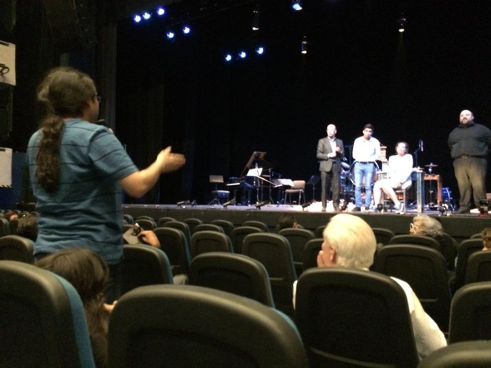 Audience talk-back at Teatro Diana