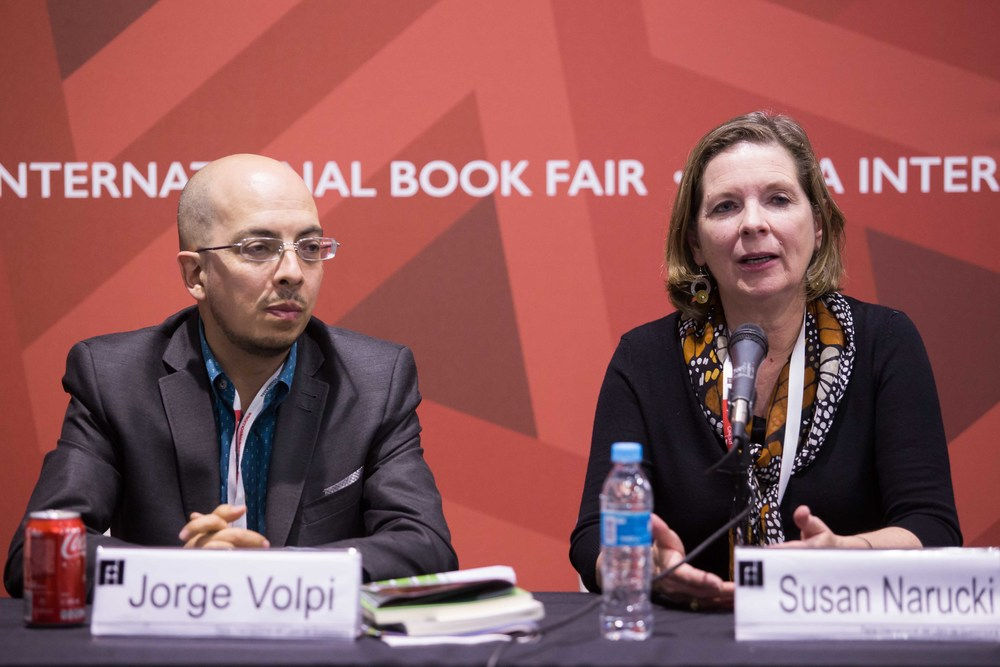 Jorge Volpi and Susan Narucki
