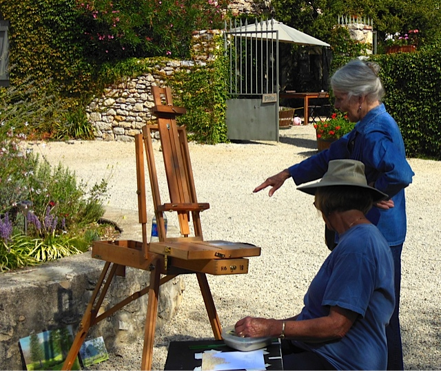 Painting Workshop With Elizabeth Mowry in the south of France - Haute Baran