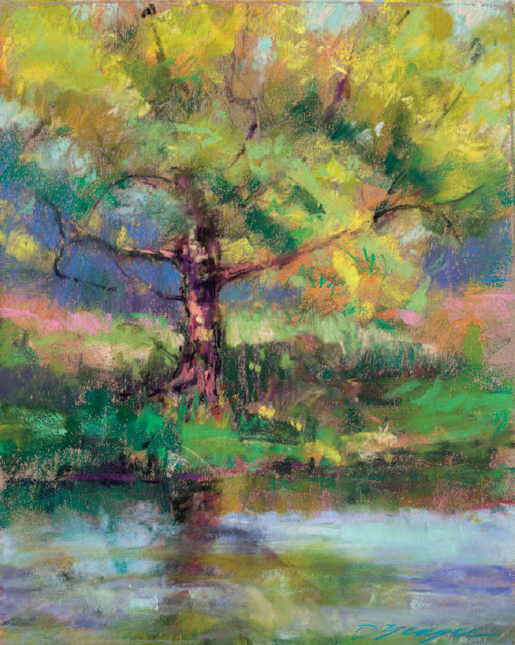Tree by Pond