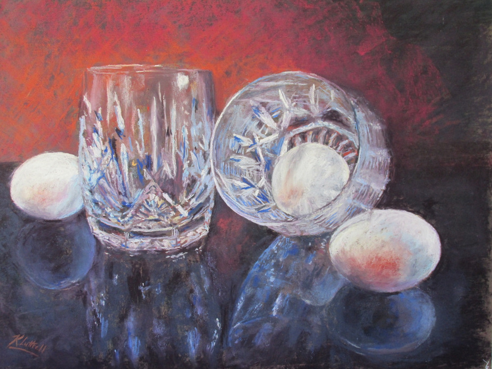 Waterford and Eggs by Karen Luttrell