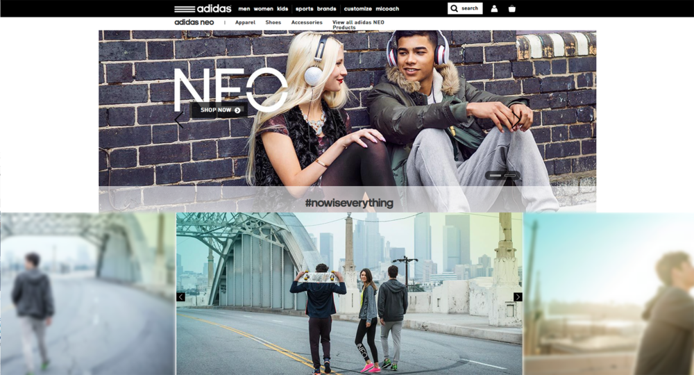 Imagery in use at adidas.com/NEO