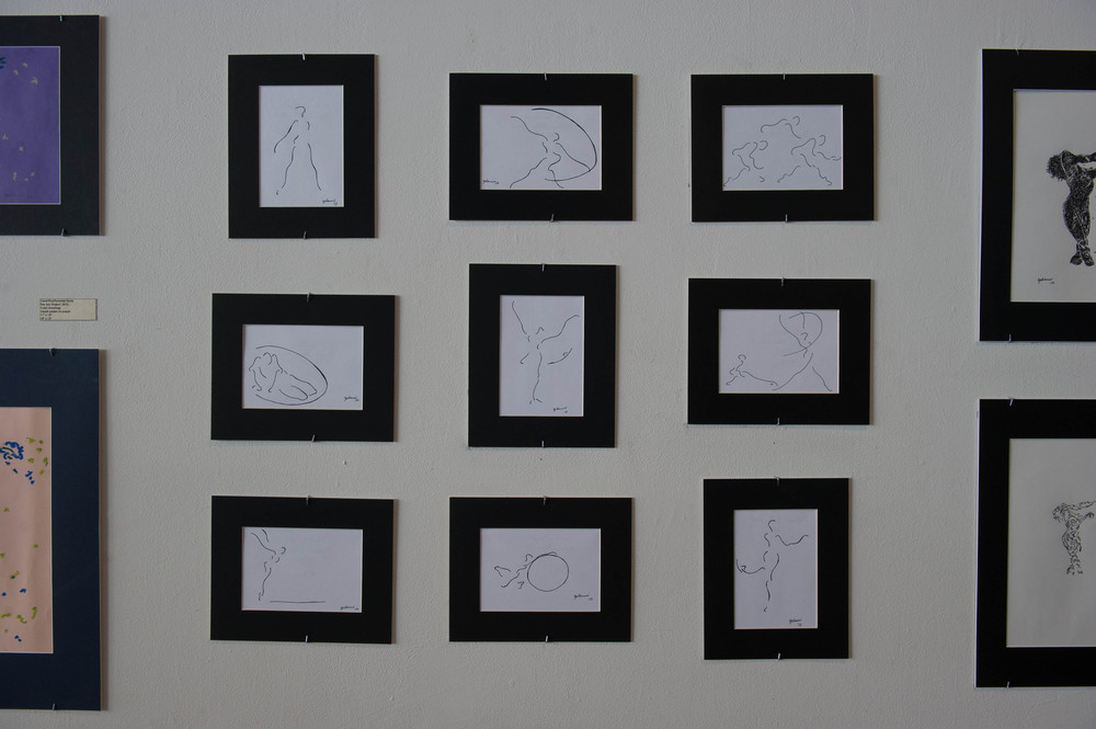 "The Sun Project, 2012 Gesture Drawings 5"" x 8 1/8"""