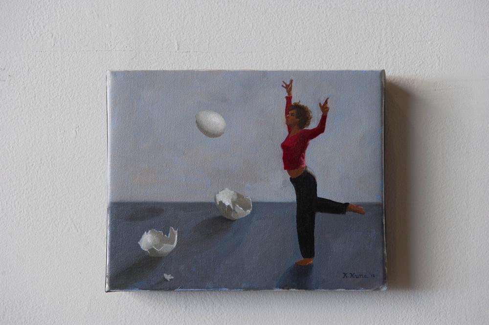 "Ovum Triptych, 2012 8"" x 10"""