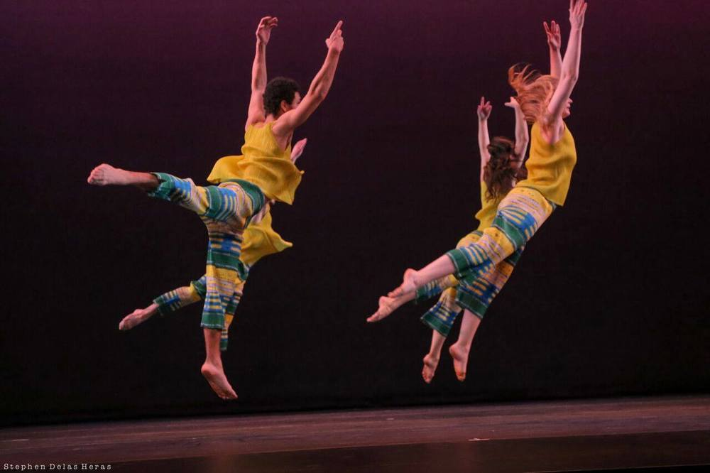 Henning Rübsam's SENSEDANCE performing And There Was Morning at the Kaye Playhouse. Photo by Stephen Delas Heras. Click the picture above to see the Slo-mo Video Portrait of And There Was Morning by Benton C Bainbridge.