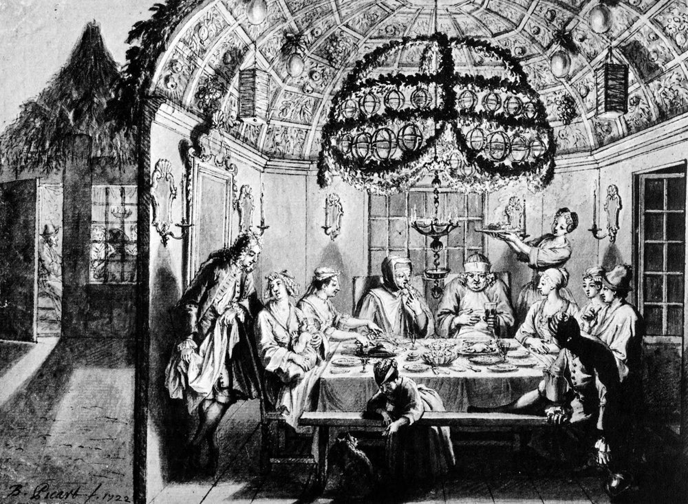 Sukkah_meal_Amsterdam_1922_Bernard_Picart_Wigoder_editor_Jewish_Art_Civilization_1972_p60-1.JPG