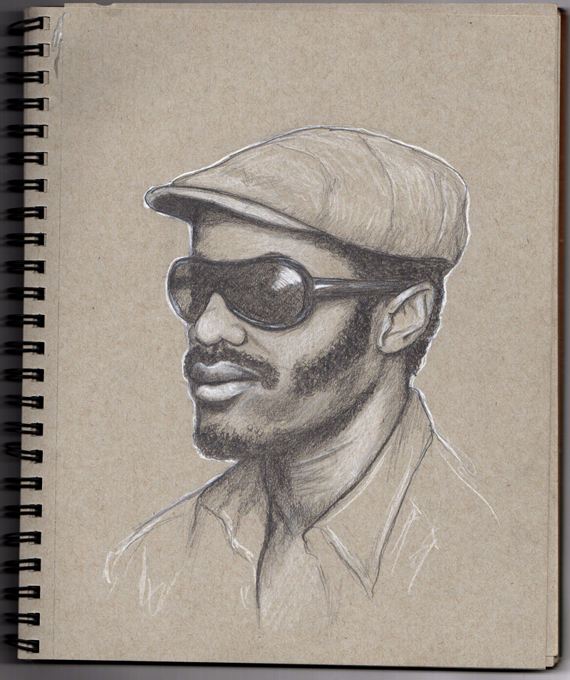 Stevie Wonder - graphite study