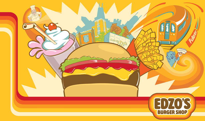 Edzo's Burger Shop Mural