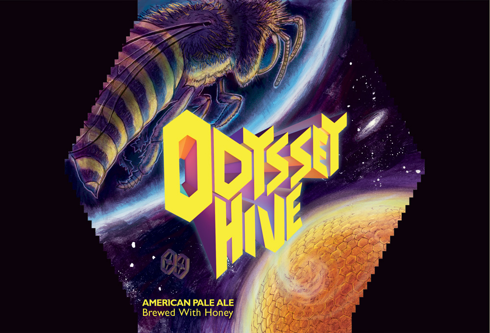 Odyssey Hive Beer Label