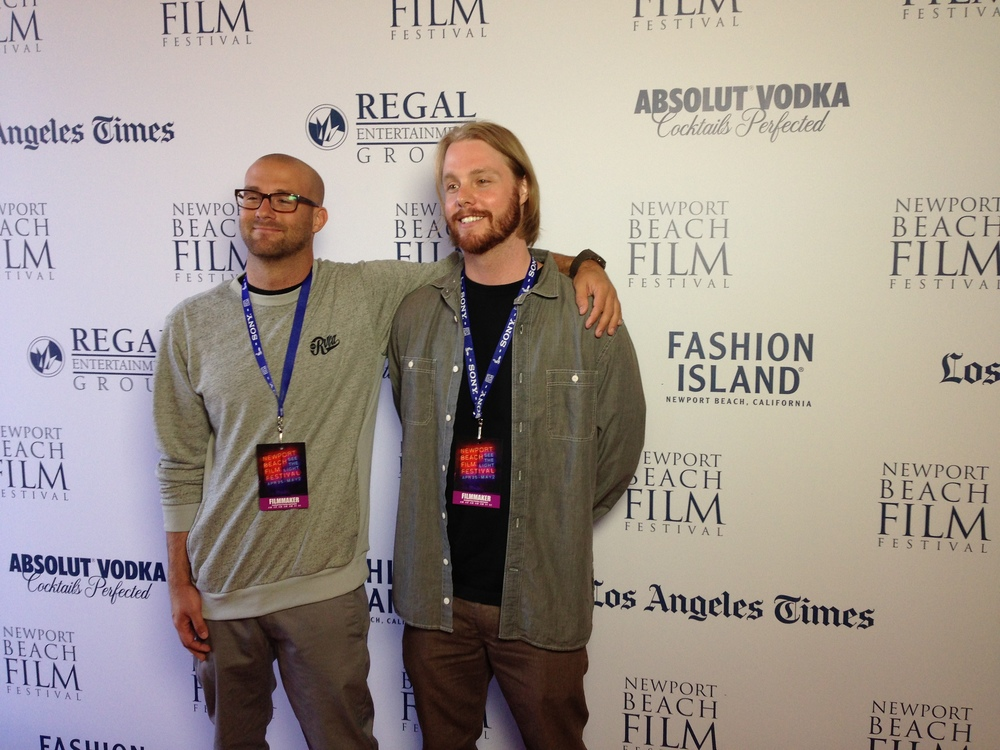 Filmmakers Logan Hendricks and Kyle Clark at the Newport Beach Film Festival.