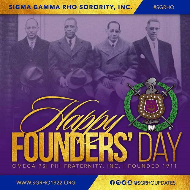 Happy Founders' Day to the men of Omega Psi Phi!